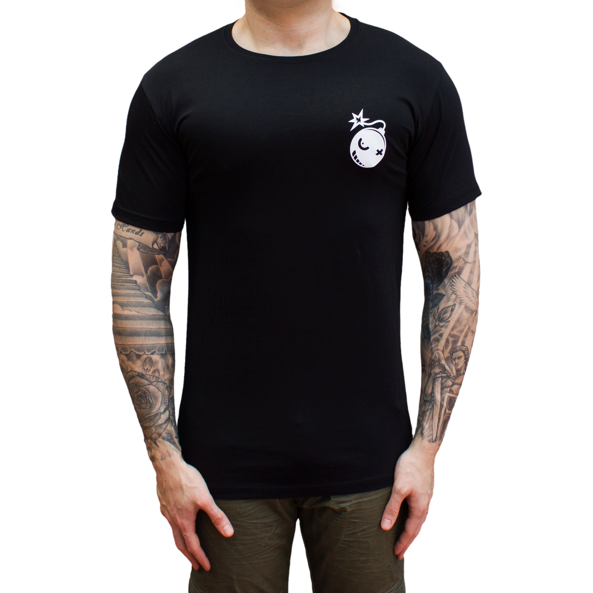 Bomber Tee Droptail Black
